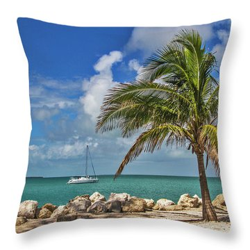 Throw Pillow featuring the photograph Fort Zachary Taylor State Park - Find Paradise In Key West Florida  by Bob Slitzan