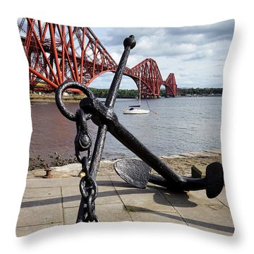 Throw Pillow featuring the photograph Forth Bridge by Jeremy Lavender Photography