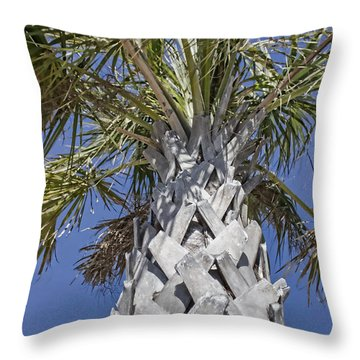 Fortified Foundation Palm Throw Pillow