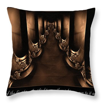 Fortified Tower Throw Pillow