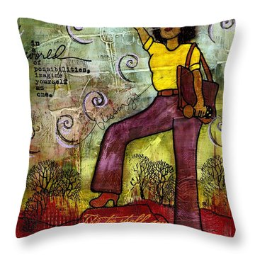 Fortitude Throw Pillow by Angela L Walker