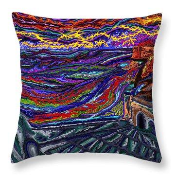 Fortresse De Tanger Throw Pillow by Robert SORENSEN