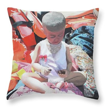#fortresseurope Throw Pillow