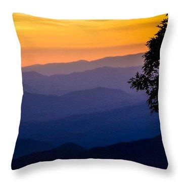 Fortuitous Sunset Throw Pillow