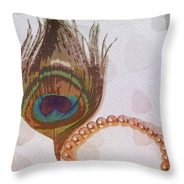 Fortune Assets Of Lord Krishna Throw Pillow