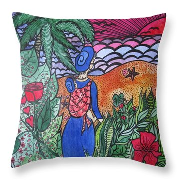 Fortune ....happiness Throw Pillow