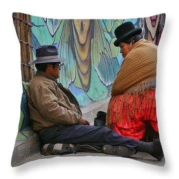 Cholitas Throw Pillows
