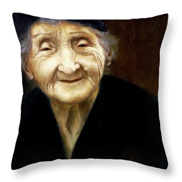 Fortune Teller Throw Pillow by Yvonne Wright