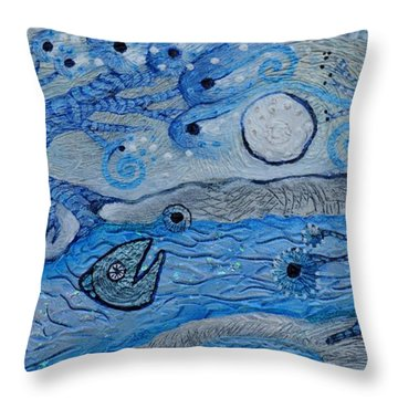 Fortune's Bait Throw Pillow