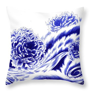 Fortunes Of Life - On The Tide Throw Pillow