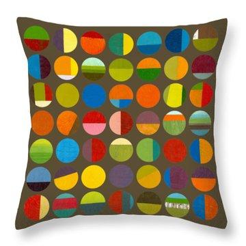 Forty Nine Circles Throw Pillow