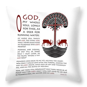 Forty Second Psalm Throw Pillow by Lawrence Klimecki