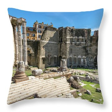 Throw Pillow featuring the photograph Forum Of Augustus by Scott Carruthers