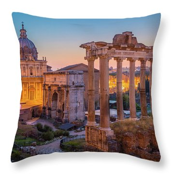 Forum Romanum Dawn Throw Pillow