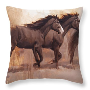 Forward Throw Pillow by JQ Licensing