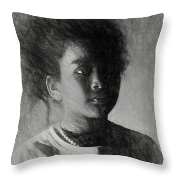 Throw Pillow featuring the digital art Forward Thinking by Terry Cork
