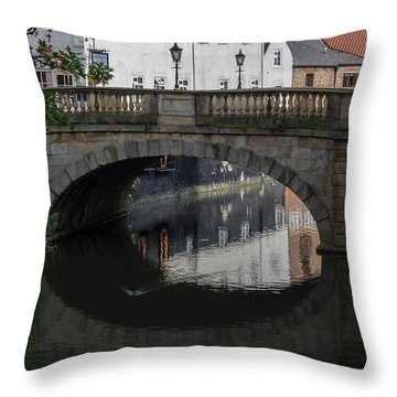 Foss Bridge - York Throw Pillow