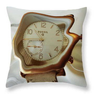 Fossil Q Throw Pillow by Bruce Iorio