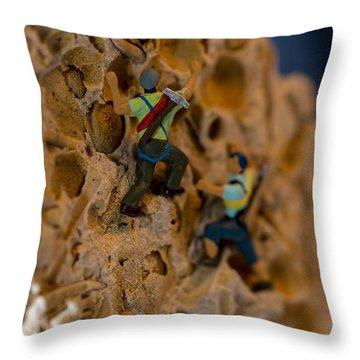 Fossil Rock Climbing Throw Pillow