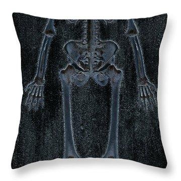 Fossilized Skeleton Throw Pillow