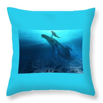 Fossils Throw Pillow by Corey Ford
