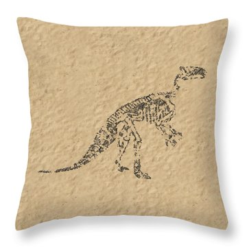 Fossils Of A Dinosaur Throw Pillow