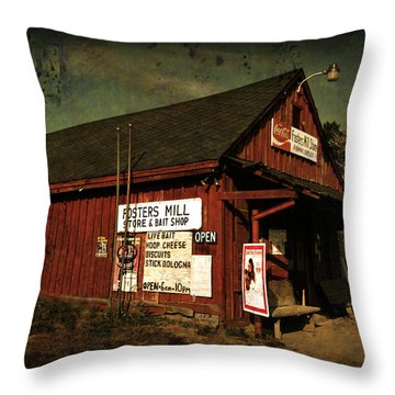 Fosters Mill Store Throw Pillow
