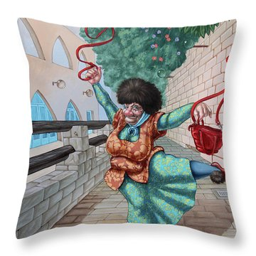 Fouette Throw Pillow