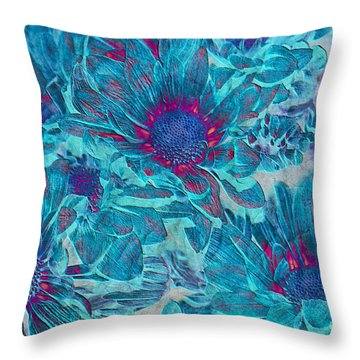 Foulee De Petales - A01t Throw Pillow by Variance Collections