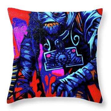 Found Graffiti 25 Mummy Throw Pillow by Jera Sky