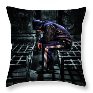 Found Guilty Throw Pillow by Evelina Kremsdorf