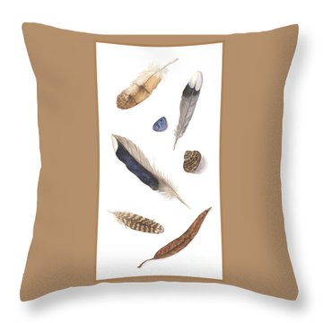 Found Treasures Throw Pillow by Lucy Arnold