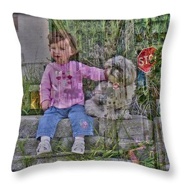 Throw Pillow featuring the photograph Foundation by Nick David