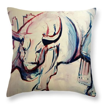 Throw Pillow featuring the painting Foundation Of Finance by John Jr Gholson