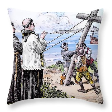Founding Of Mission San Diego De Alcala Throw Pillow