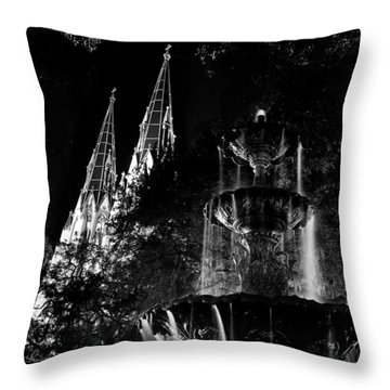 Fountain And Spires Throw Pillow