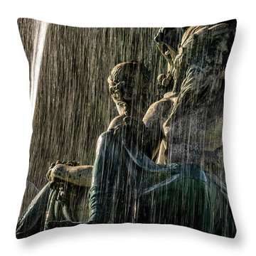 Fountain At Rossio Square Throw Pillow