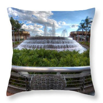Fountain Of Nations Throw Pillow