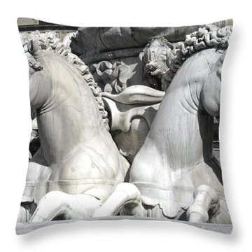 Fountain Of Neptune Florence Throw Pillow