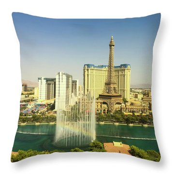 Fountain Rainbow Throw Pillow