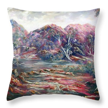 Fountain Springs Outback Australia Throw Pillow
