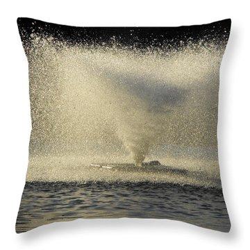 Fountain Tornado Illuminating The Shadow Throw Pillow