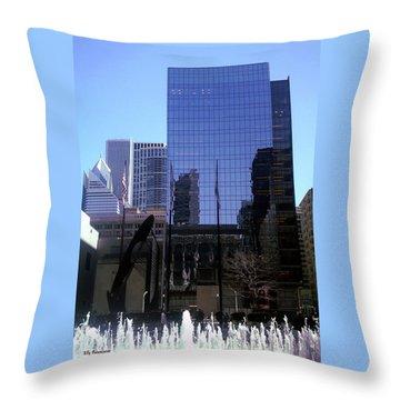 Fountain View Throw Pillow