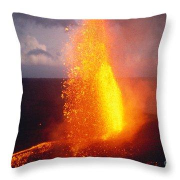Fountaining Kilauea Throw Pillow by Allan Seiden - Printscapes
