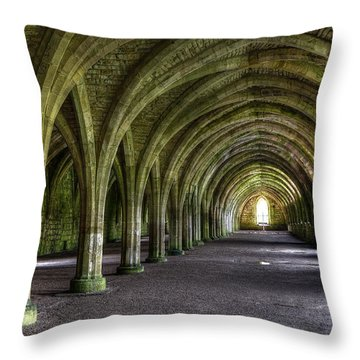 Fountains Abbey 3 Throw Pillow by Svetlana Sewell
