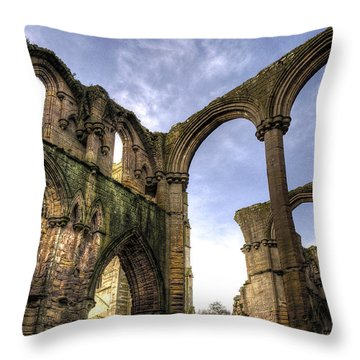 Fountains Abbey 5 Throw Pillow by Svetlana Sewell