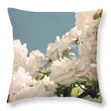 Fountains Of Roses Throw Pillow