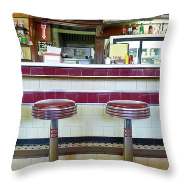 Four Aces Diner Throw Pillow by Edward Fielding