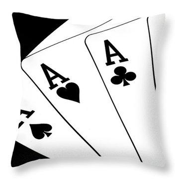 Four Aces I Throw Pillow