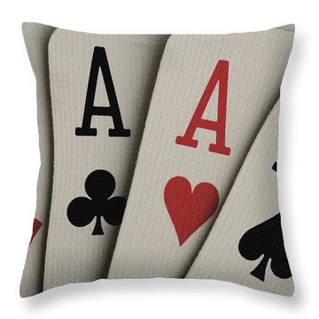 Four Aces Studio Throw Pillow by Darren Greenwood